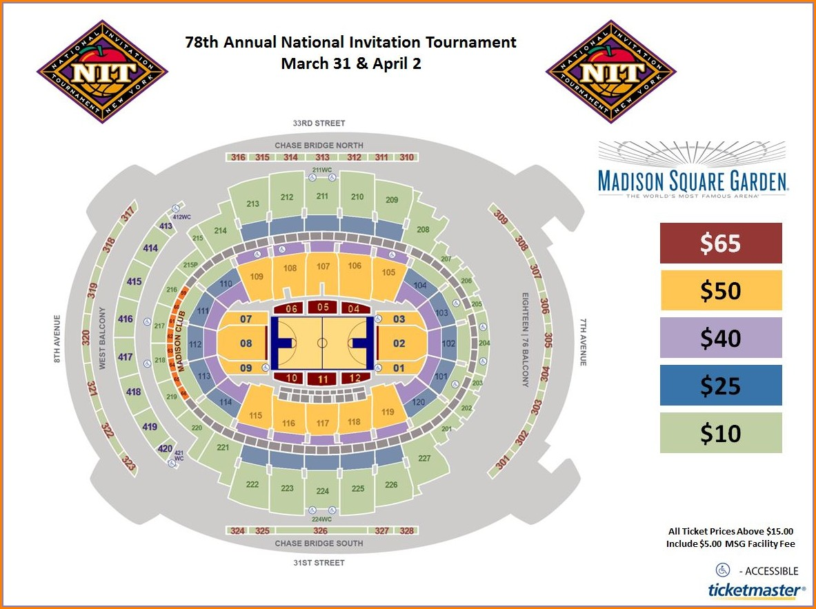 Ted Constant Center Seat Map