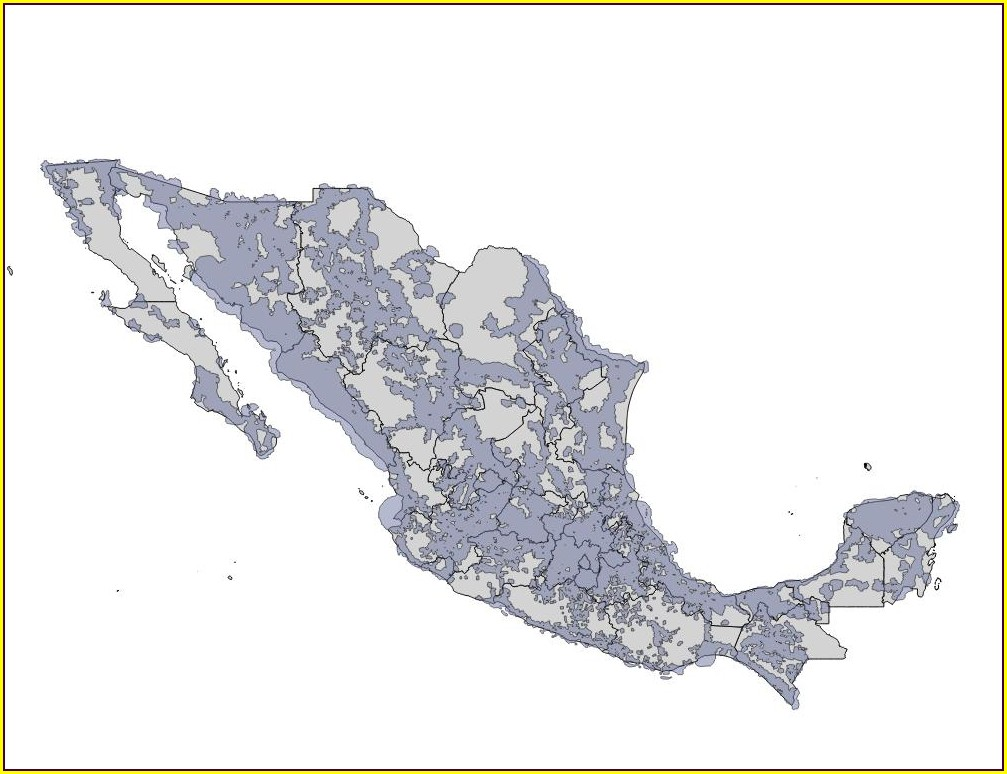 Telcel Coverage Map Mexico