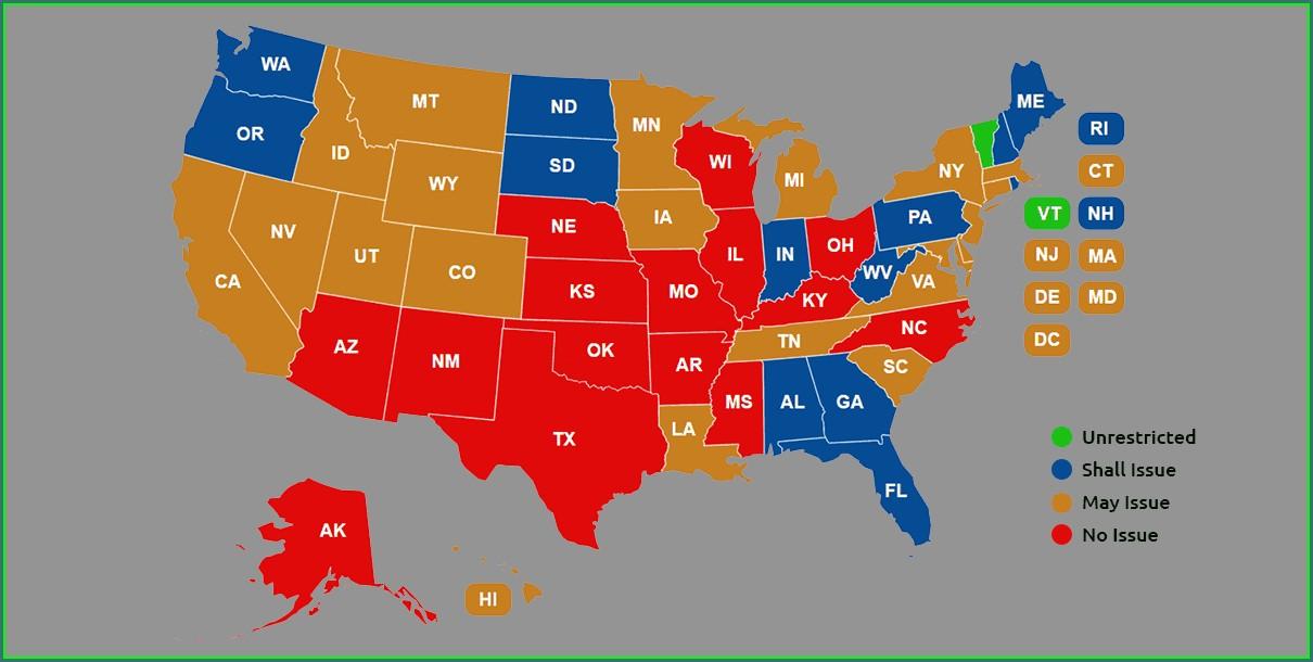 Texas Ltc Reciprocity Map 2020