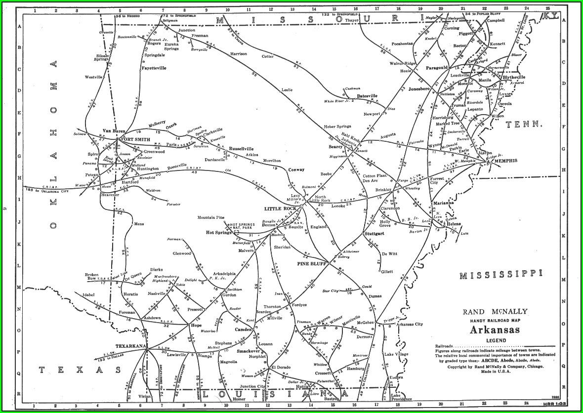Texas Railroad Map 1950