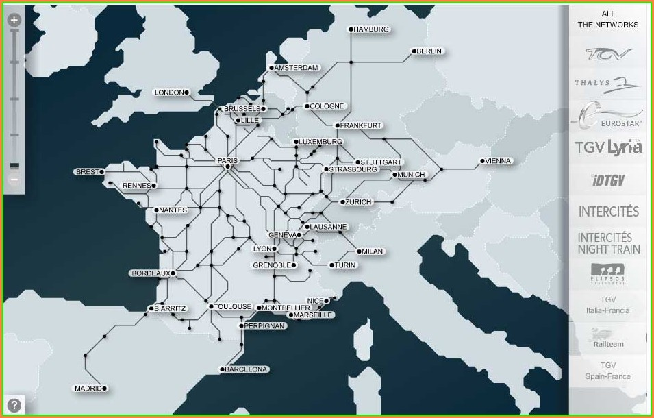 Tgv Train Map Europe