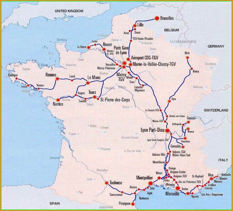 Tgv Train Map France