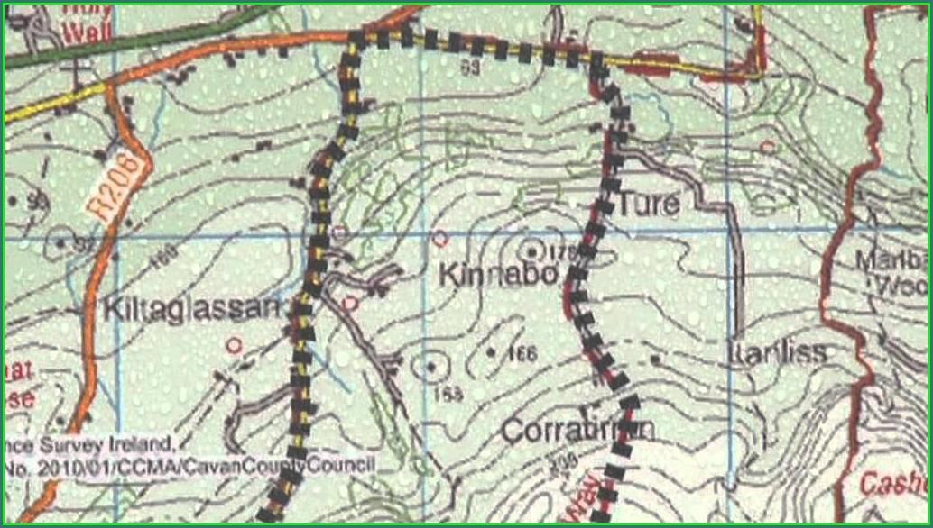 The Burren Ireland Map