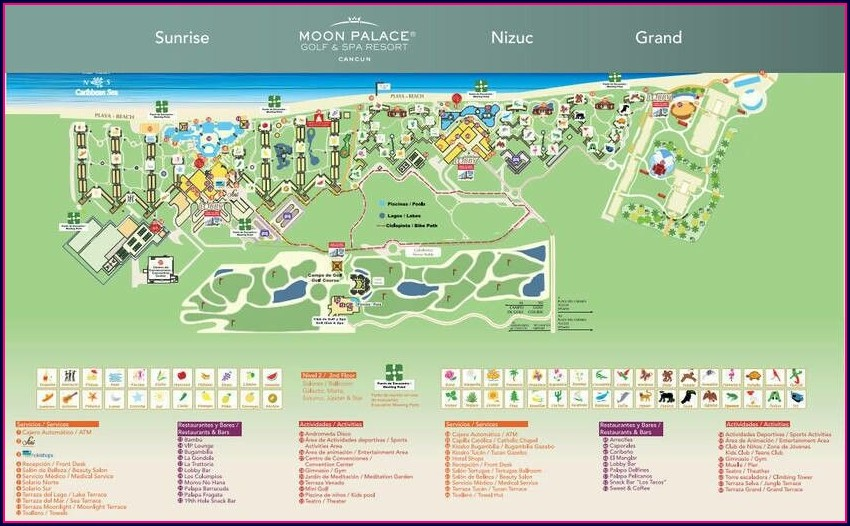 The Grand At Moon Palace Cancun Map