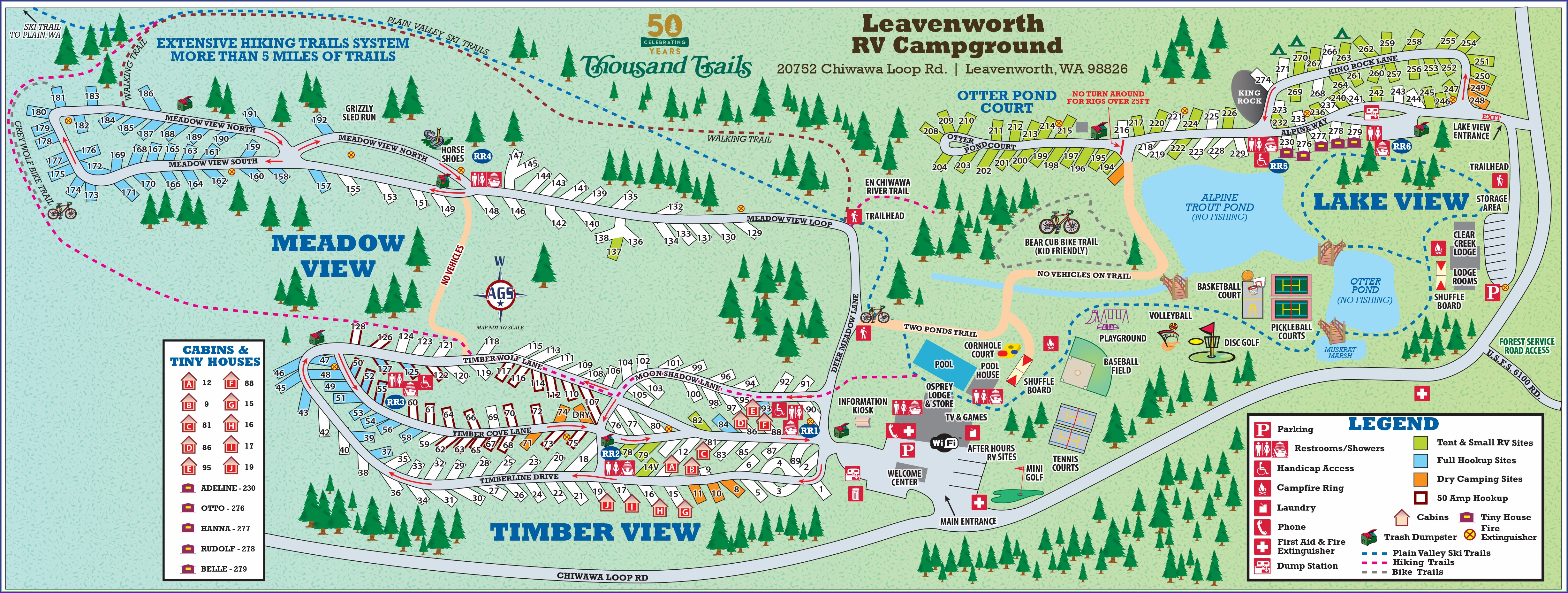 Thousand Trails Leavenworth Campground Map