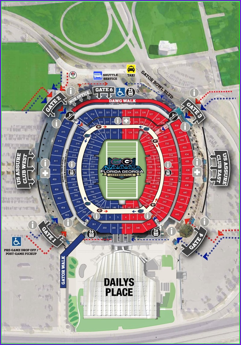 Tiaa Bank Field Map Gates