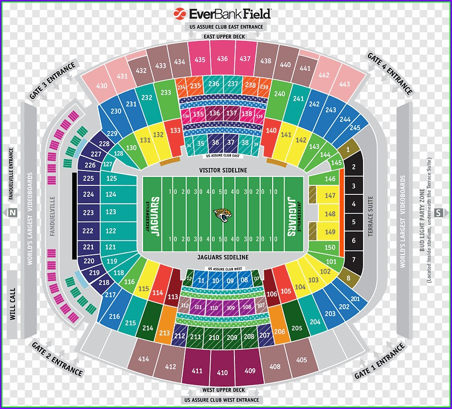 Tiaa Bank Field Seat Map