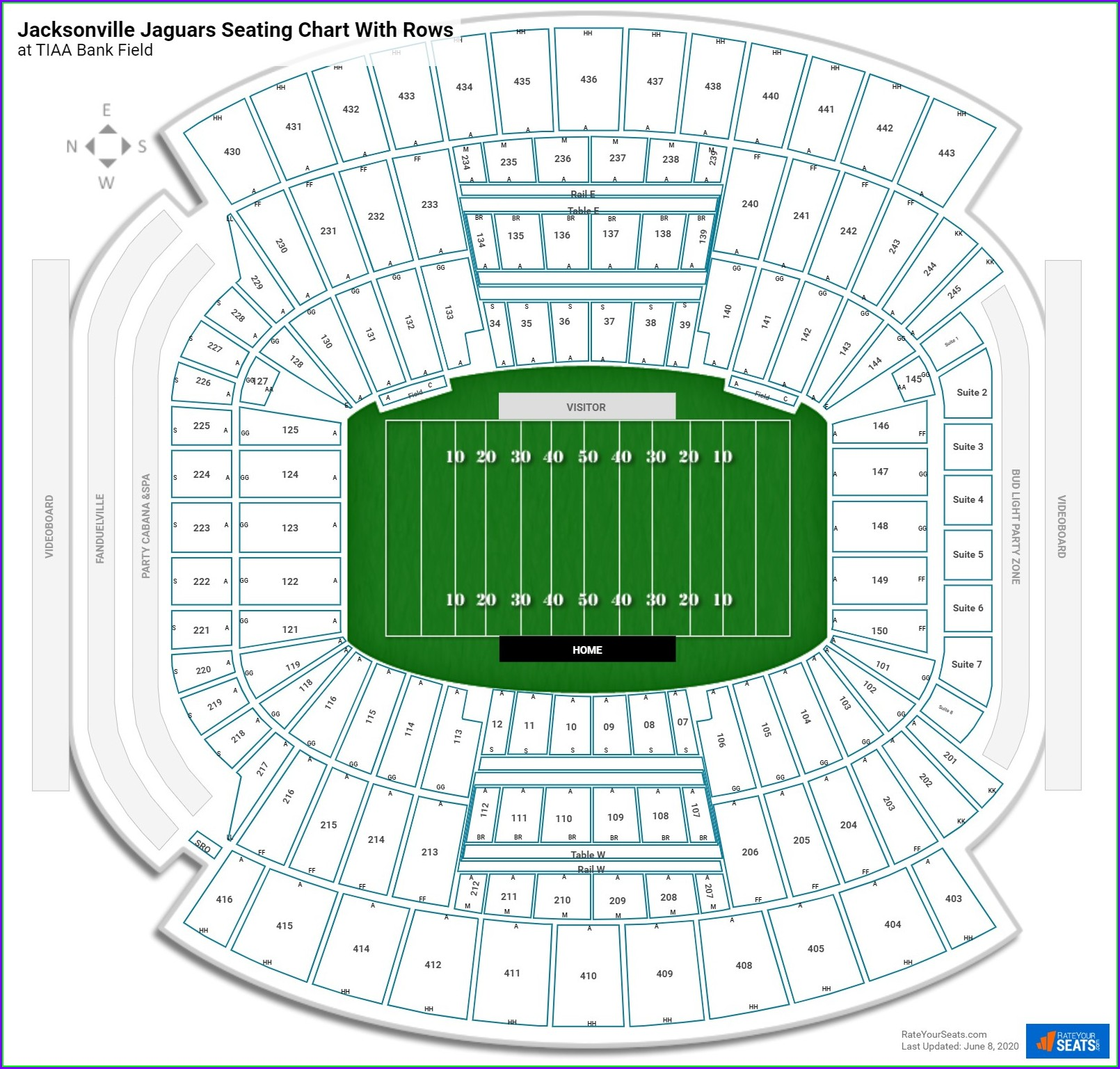 Tiaa Bank Field Seating Map