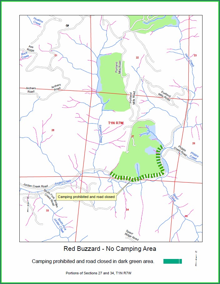 Tillamook State Forest Dispersed Camping Map