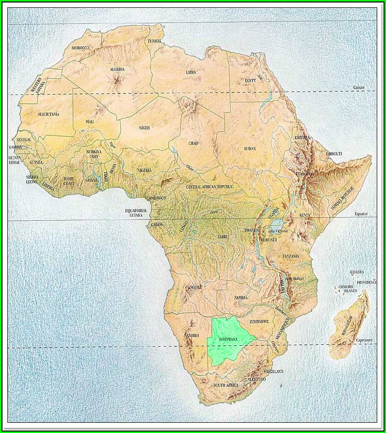 Topological Map Of Africa