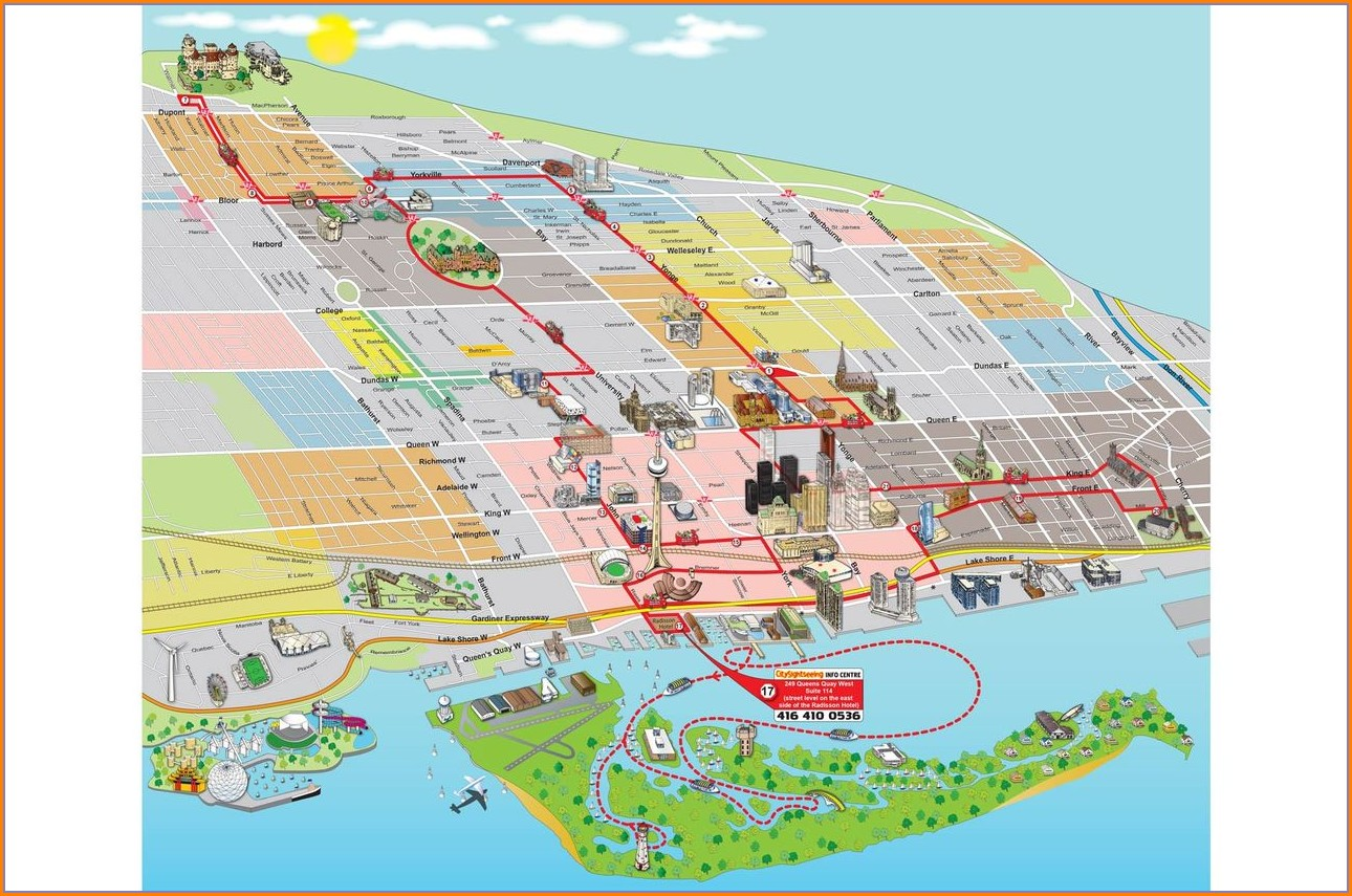 Toronto Hop On Hop Off Route Map