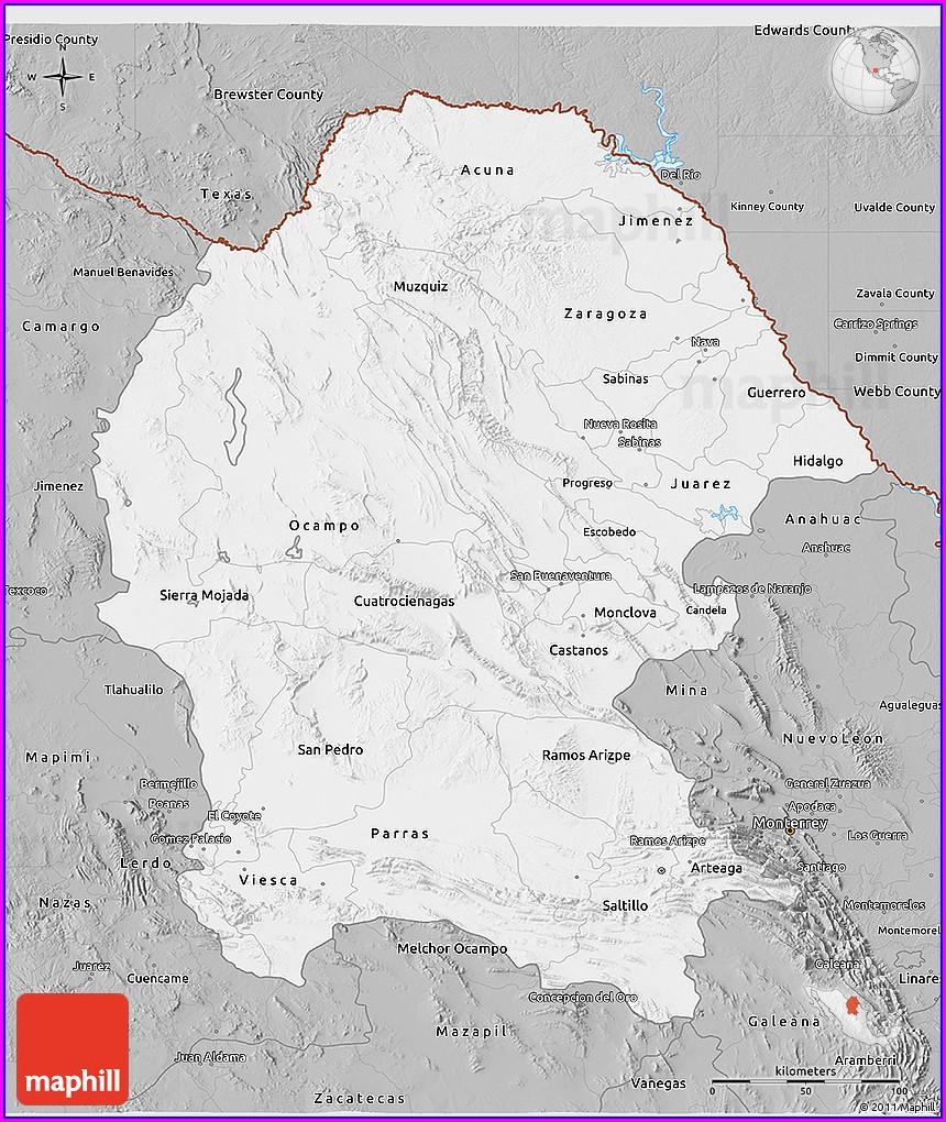 Torreon Coahuila Mexico Map
