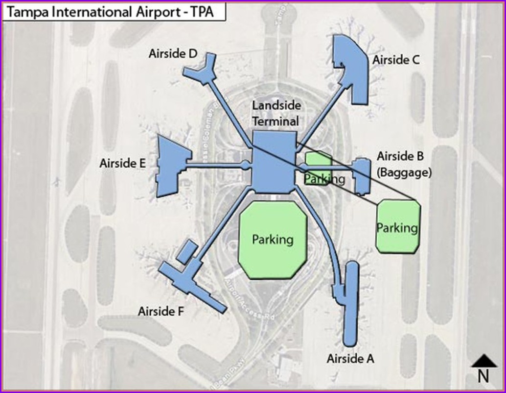 Tpa Airport Terminal Map