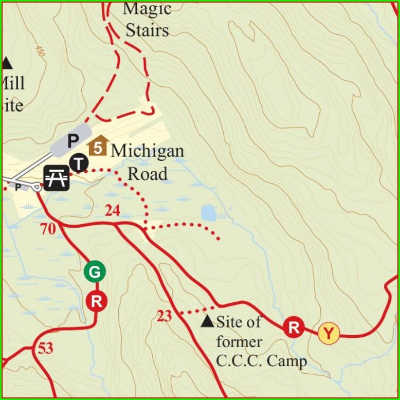 Trail Map Ward Pound Ridge Map