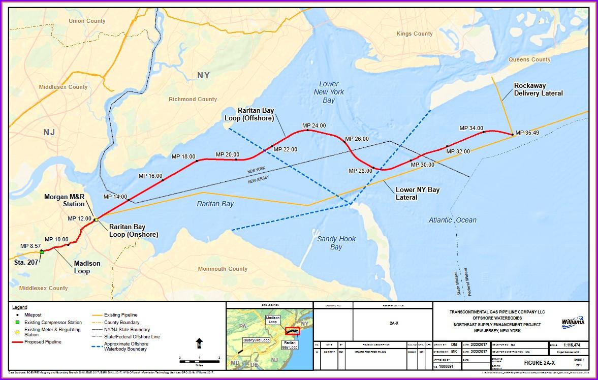 Transco Pipeline Map Nj