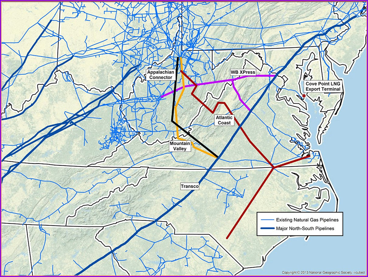 Transco Pipeline Map North Carolina