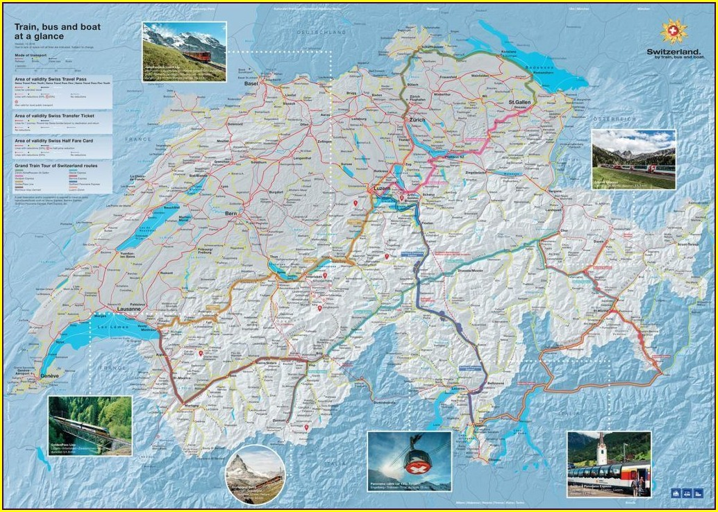 Travel Swiss Pass Swiss Rail Map