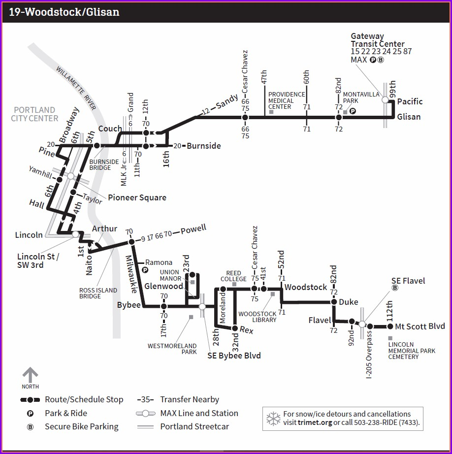 Trimet Bus Map 70