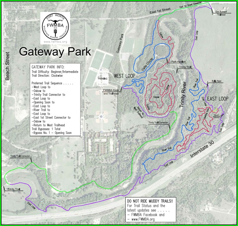 Trinity River Trails Fort Worth Map