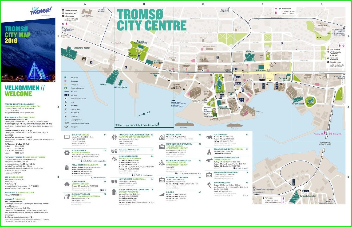 Tromso City Centre Map