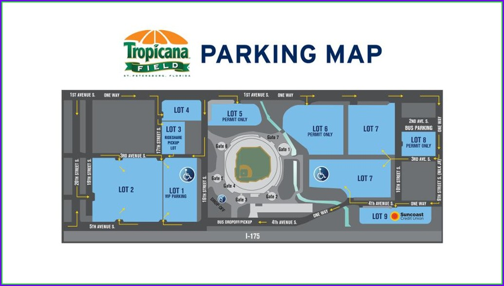 Tropicana Field Parking Lot Map