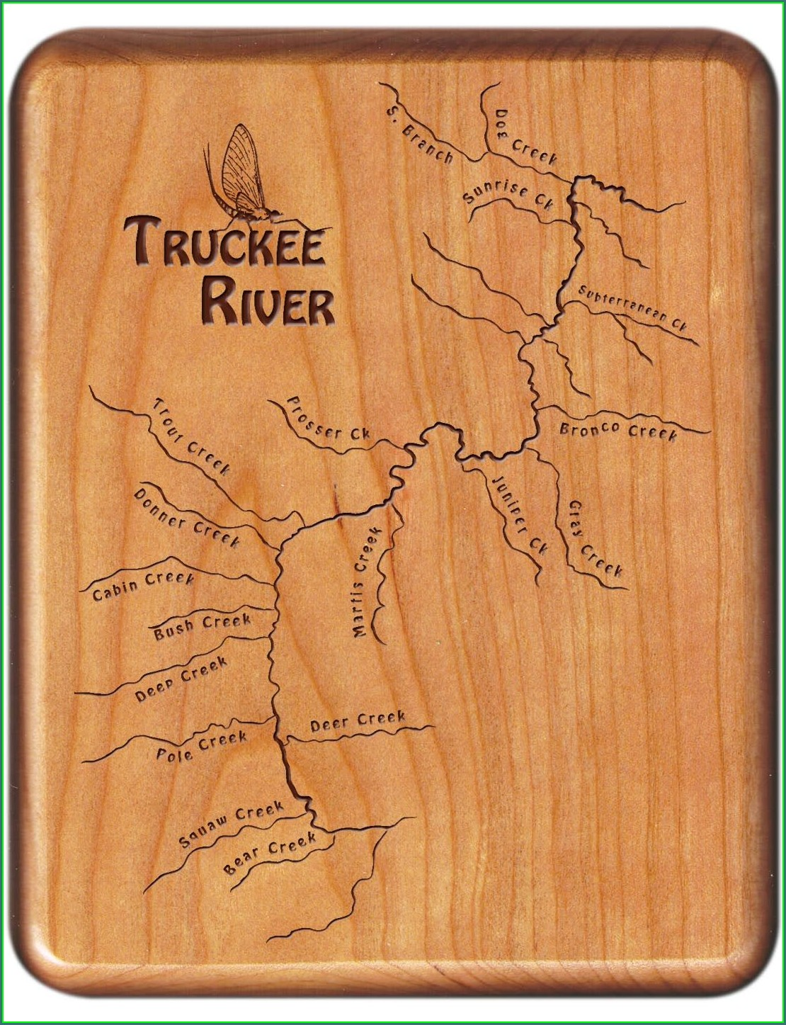 Truckee River Fly Fishing Map