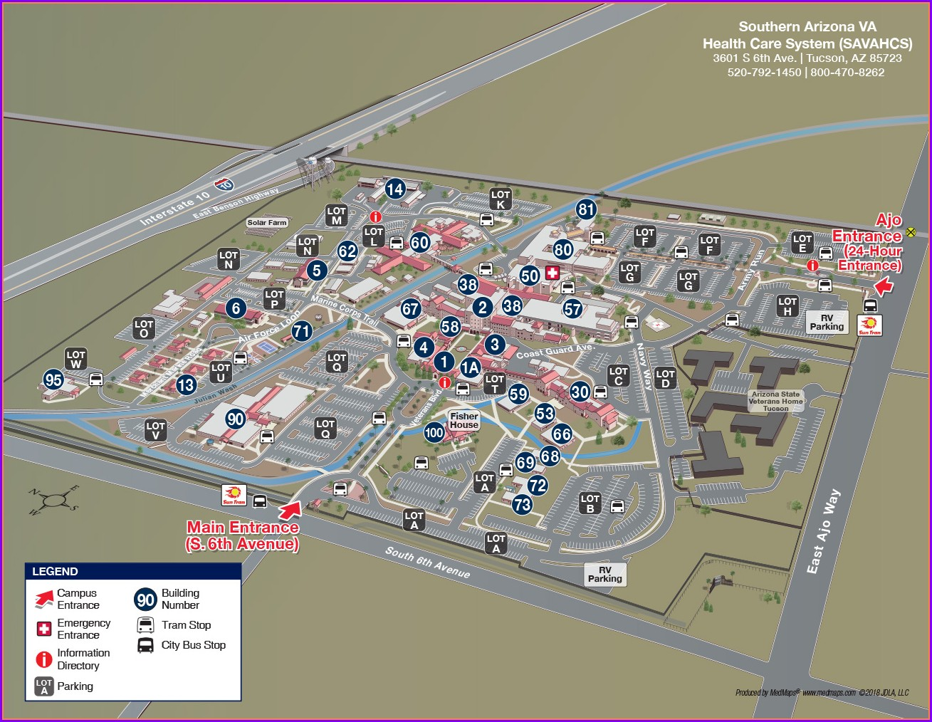 Tucson Va Hospital Map