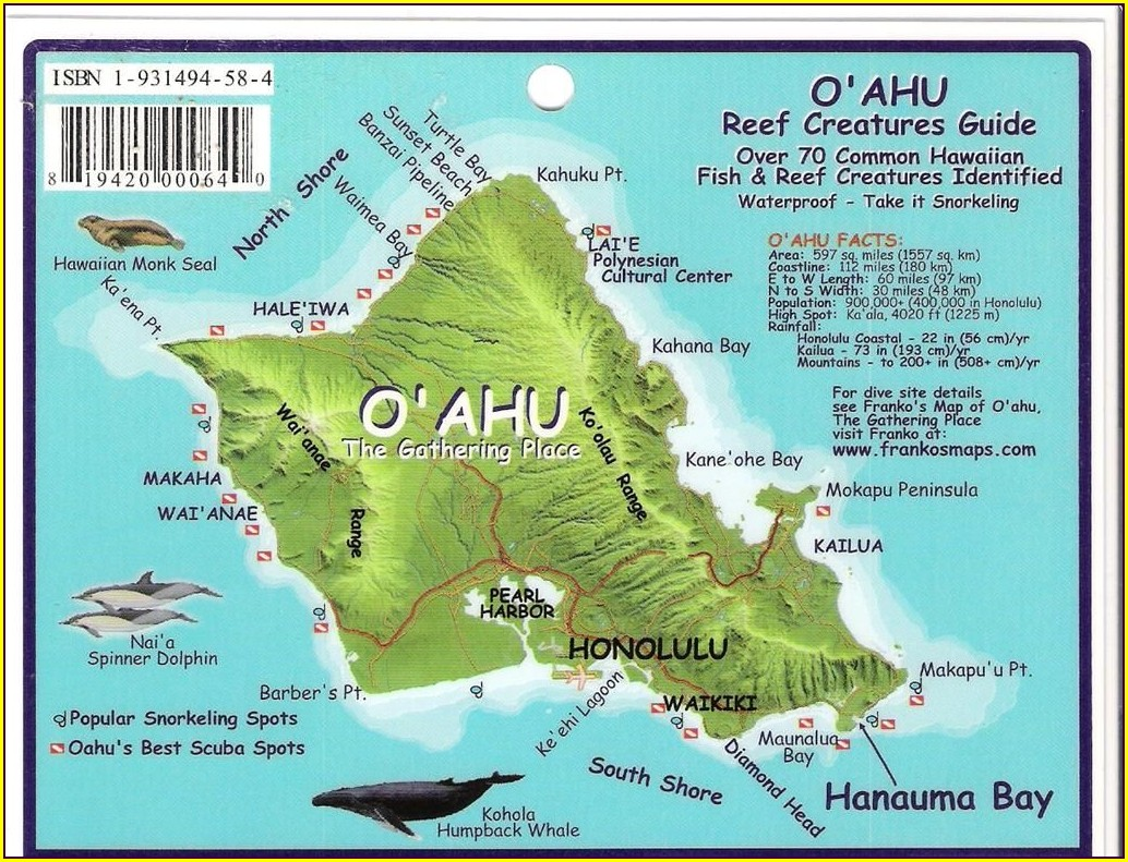 Turtle Canyon Oahu Map