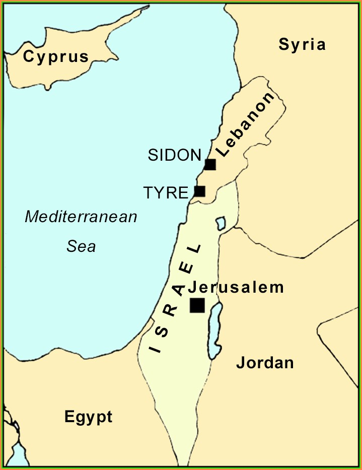 Tyre And Sidon Map