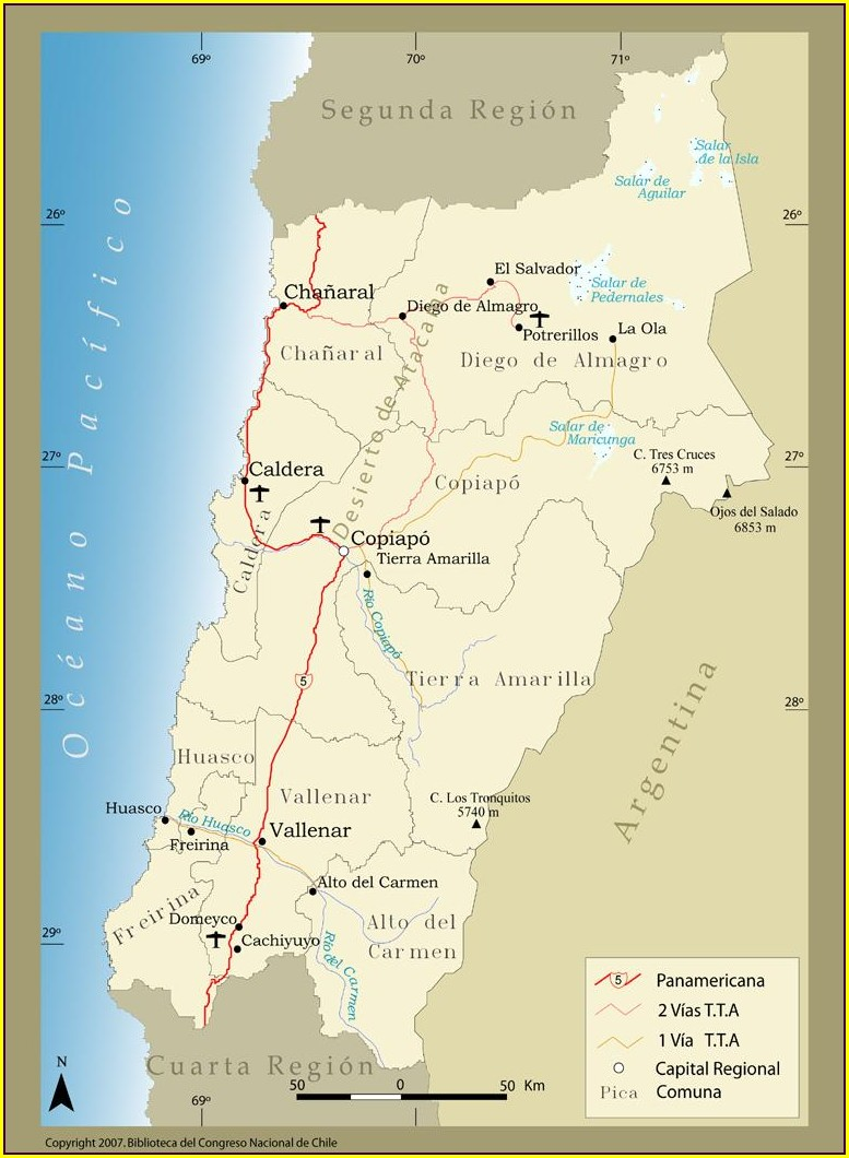 Ubicacion Salar De Atacama Mapa