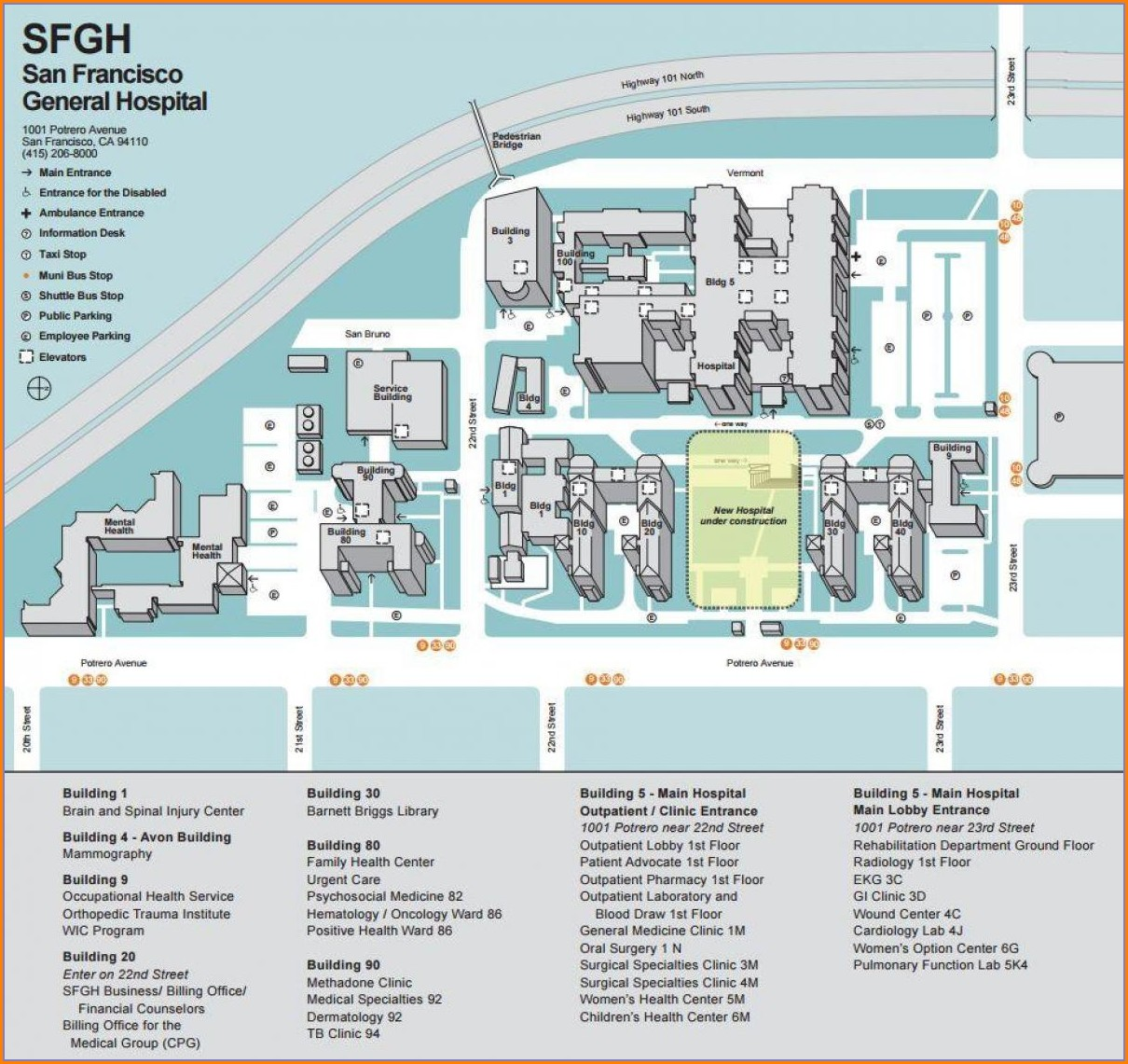 Ucsf Medical Center Map