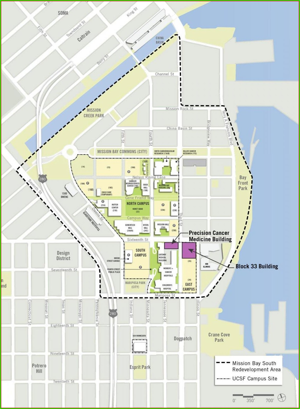 Ucsf Mission Bay Campus Map