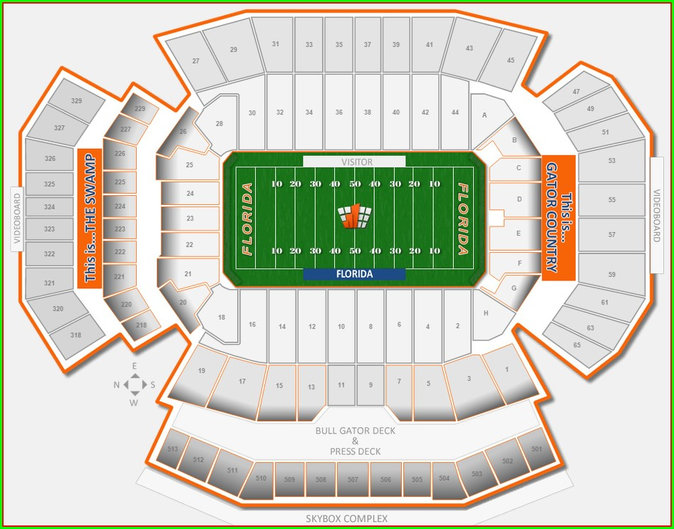 Uf Football Stadium Map