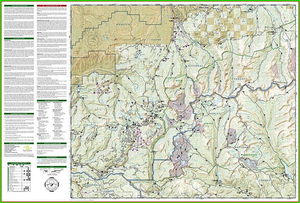 Uinta Mountains Trail Map