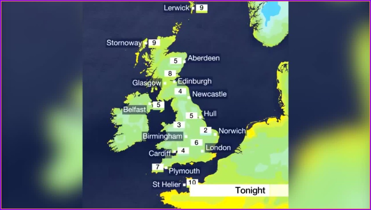 Uk Weather Forecast Map Bbc