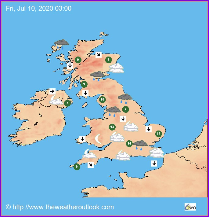 Uk Weather Forecast Map Saturday
