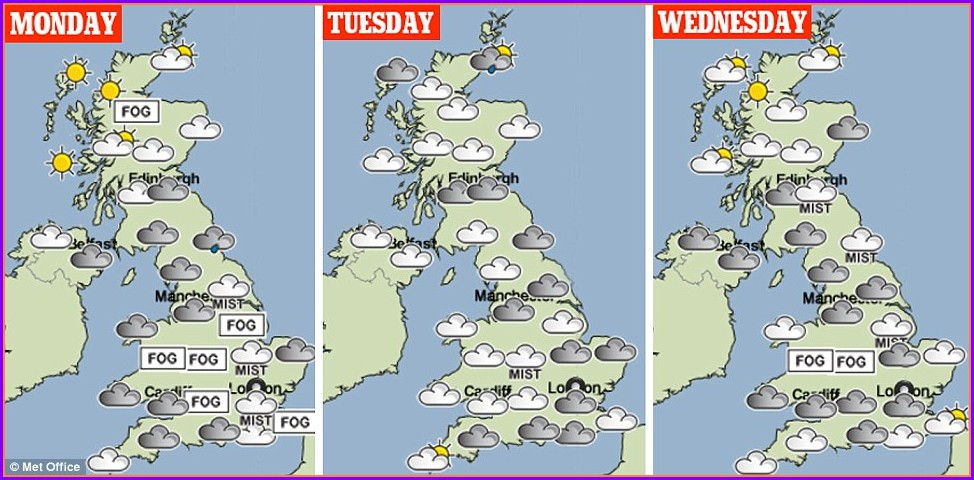 Uk Weather Map Forecast 7 Days