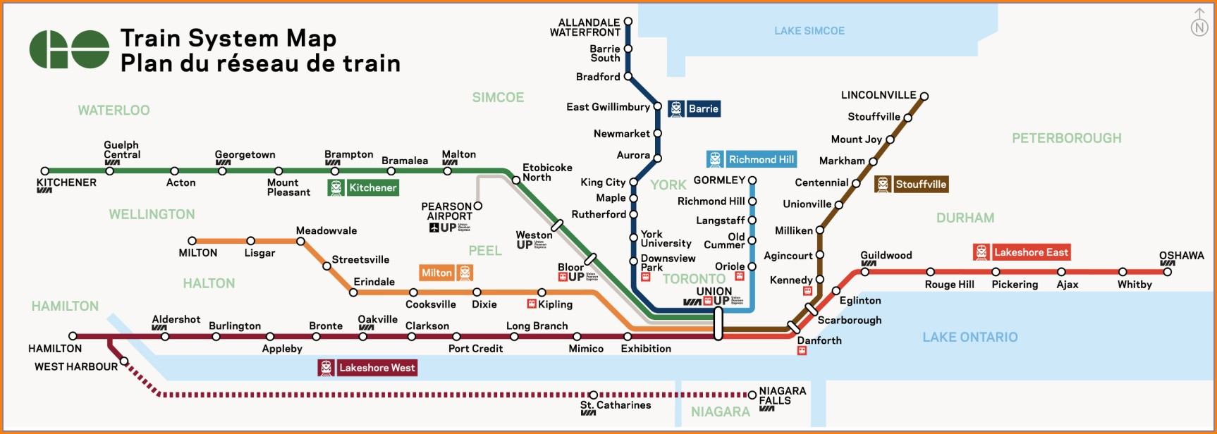Union Station Go Train Platform Map