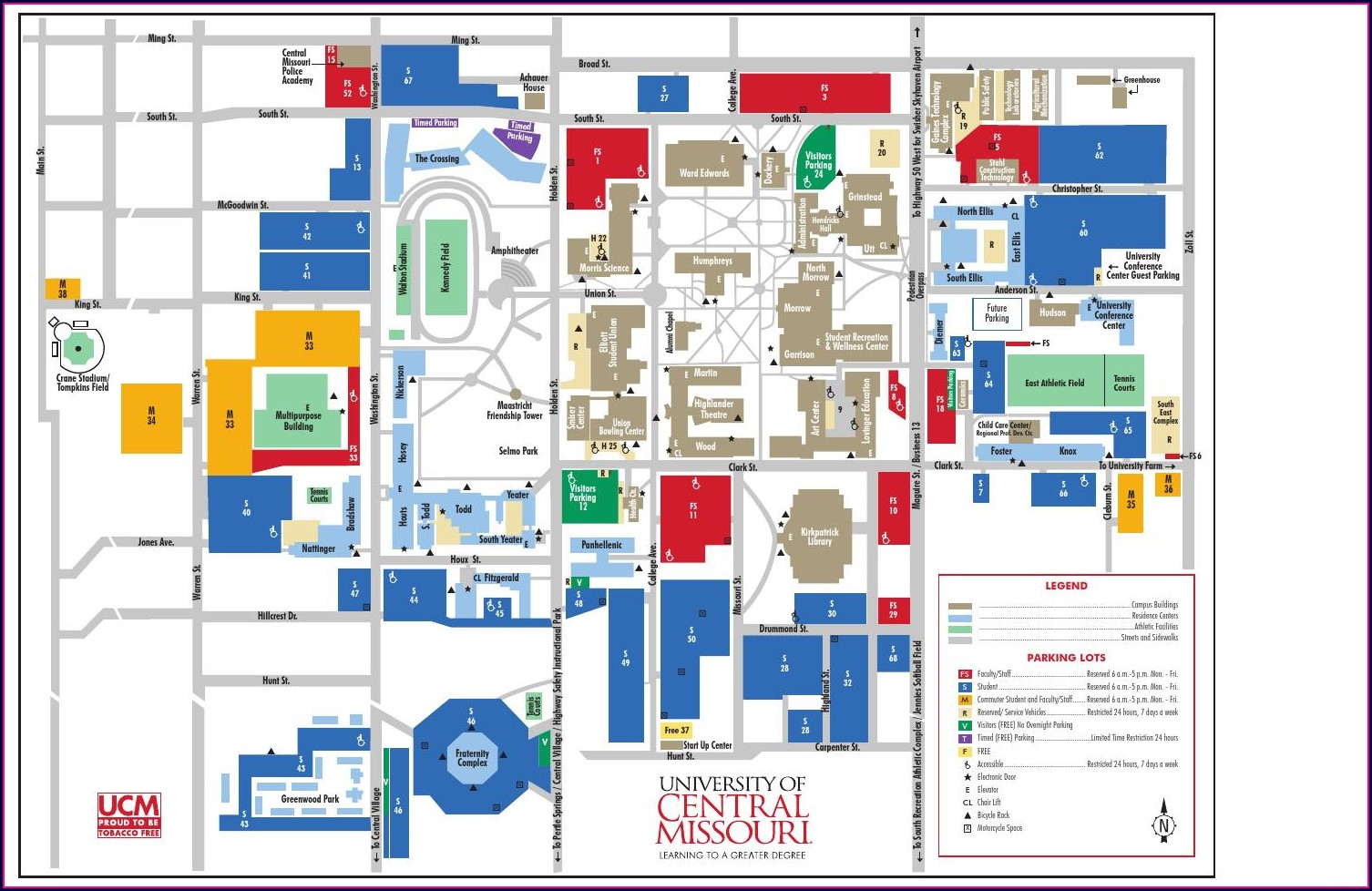University Of Central Missouri Campus Map