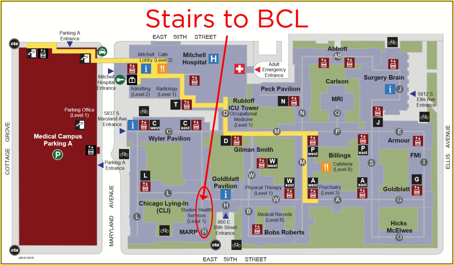 University Of Chicago Hospital Map