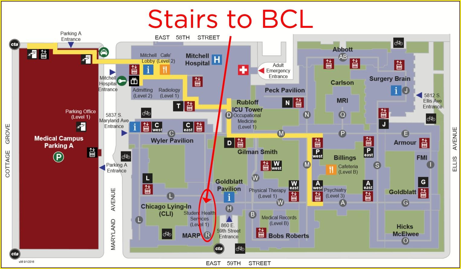 University Of Chicago Hospital Map