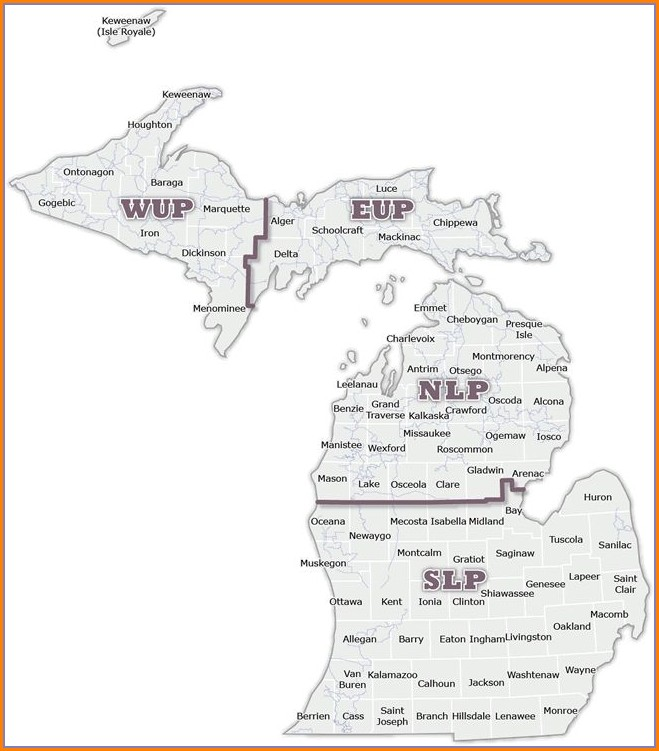 Up Michigan Snowmobile Map