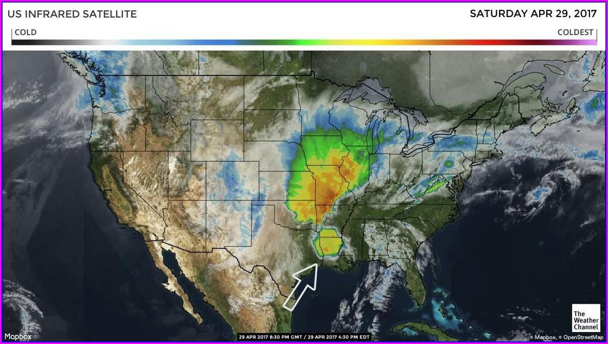 Us Satellite Weather Map