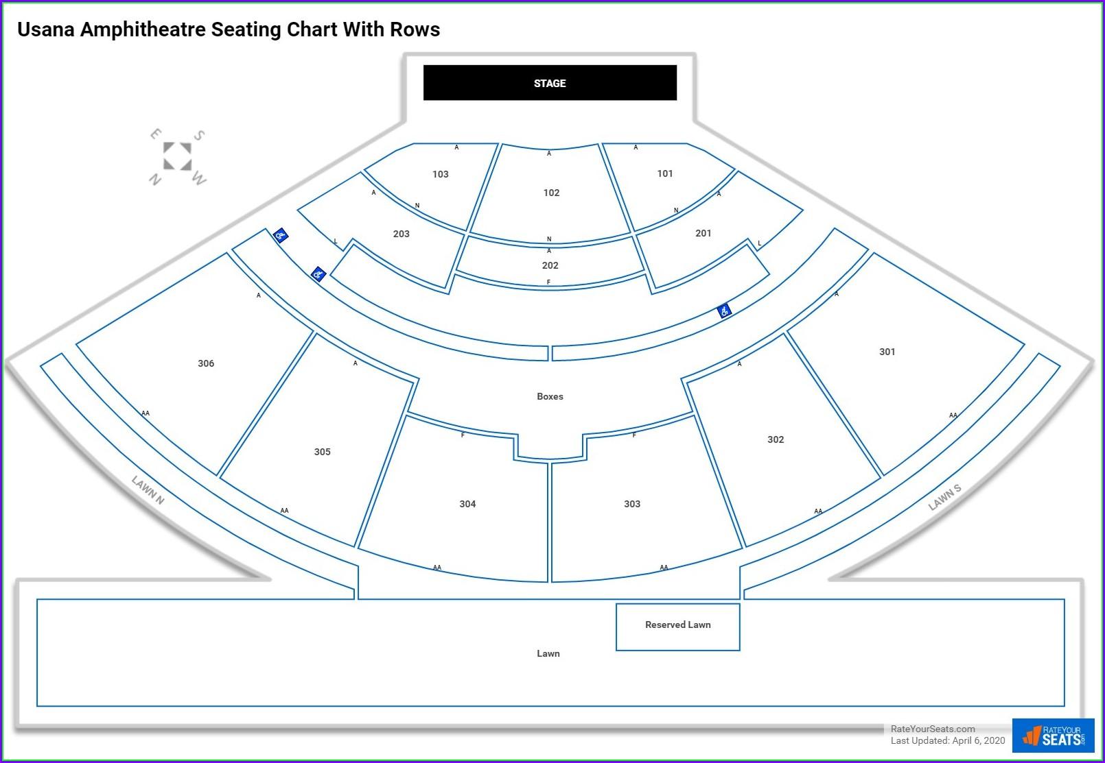 Usana Amphitheatre Seat Map