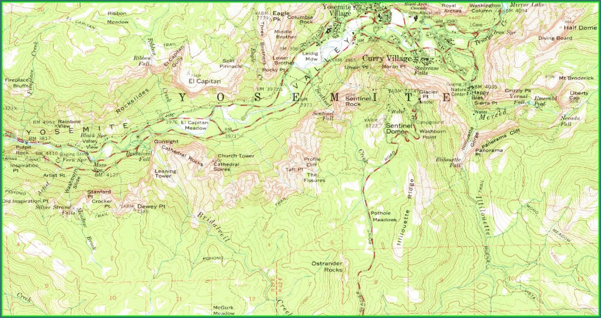 Usgs Yosemite Valley Topographic Map