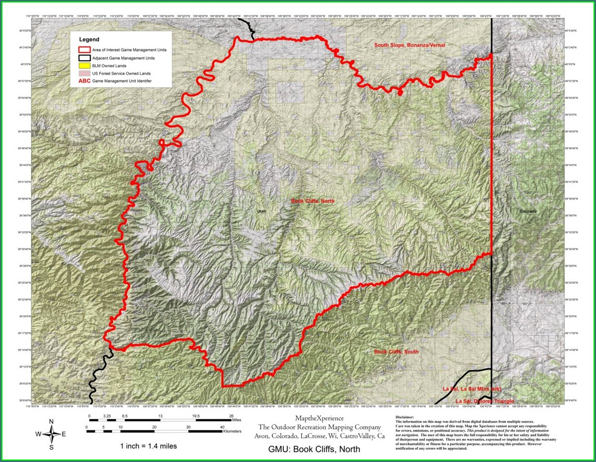 Utah Deer Hunt Map