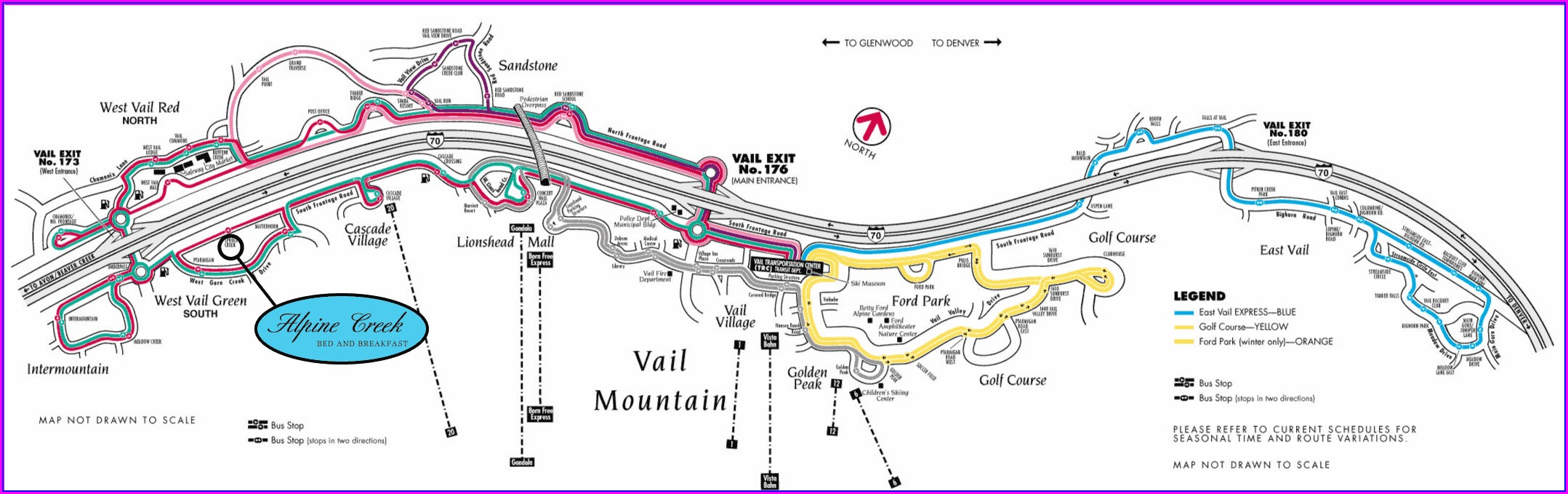 Vail Bus Route Map
