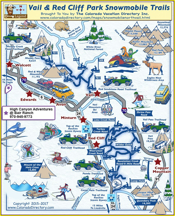 Vail Pass Snowmobile Map