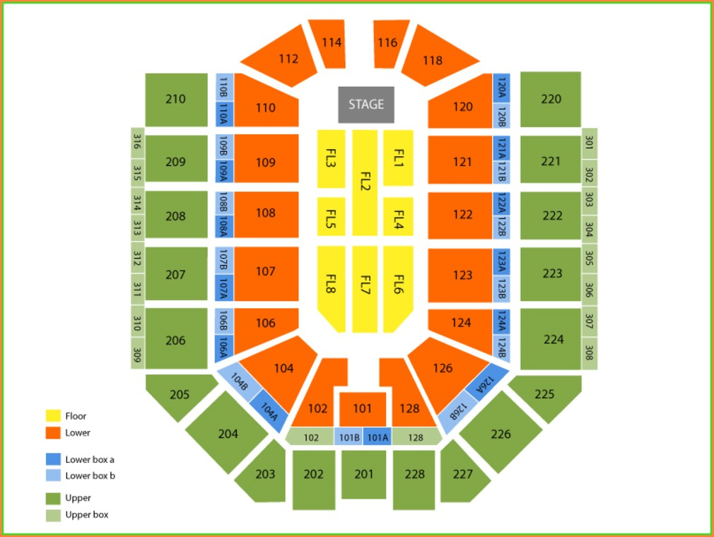 Van Andel Arena Map Seats