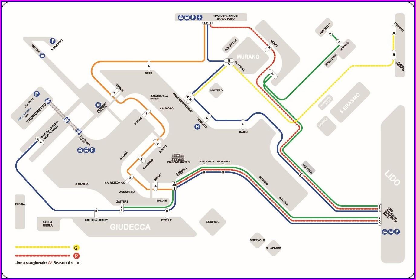 Venice Airport Map Alilaguna